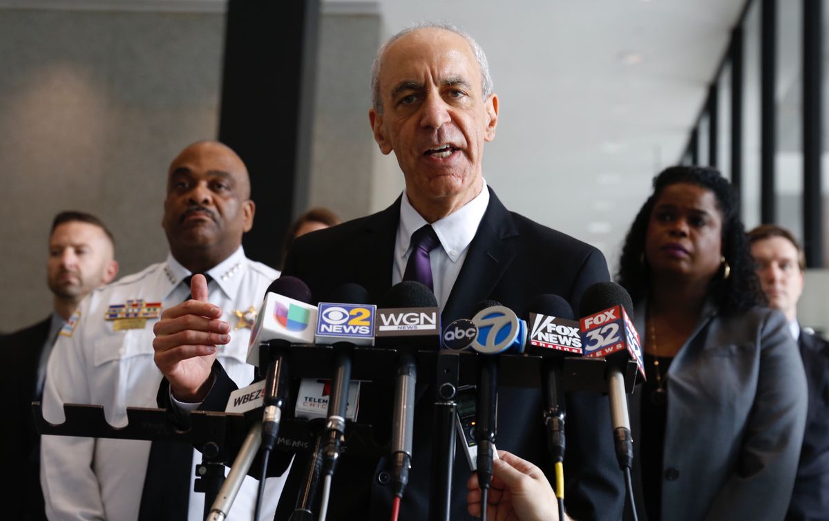 """Acting U.S. Attorney Joel Levin announces charges from """"Operation Bunny Trap"""" on Friday at the Dirksen Federal Courthouse. 
