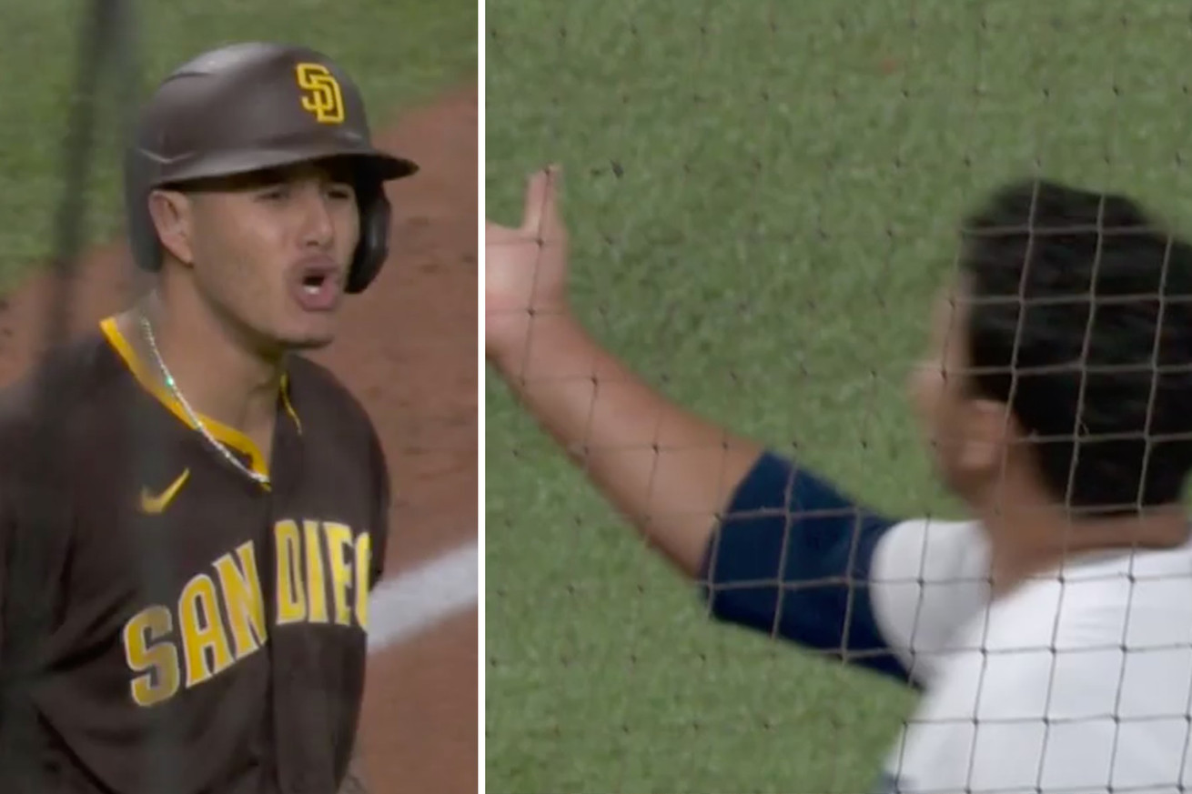 machado.0 - Manny Machado was big mad after Brusdar Graterol tossed his glove