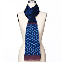 """<b>Ann Taylor</b> Atrium Scarf in Blue Bellflower, <a href=""""http://www.anntaylor.com/atrium-scarf/320227?colorExplode=false&skuId=14654435&catid=cata000022&productPageType=fullPriceProducts&defaultColor=1486"""">$59.50</a>"""