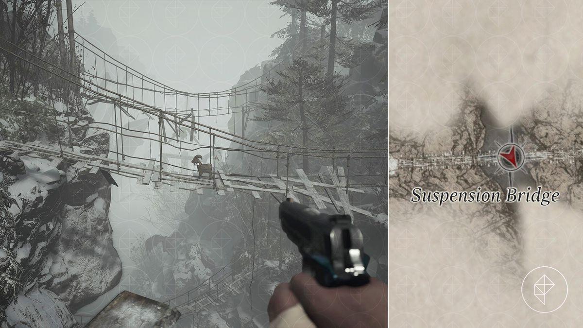 Resident Evil Village Goat of Warding House Beneviento suspension bridge map location