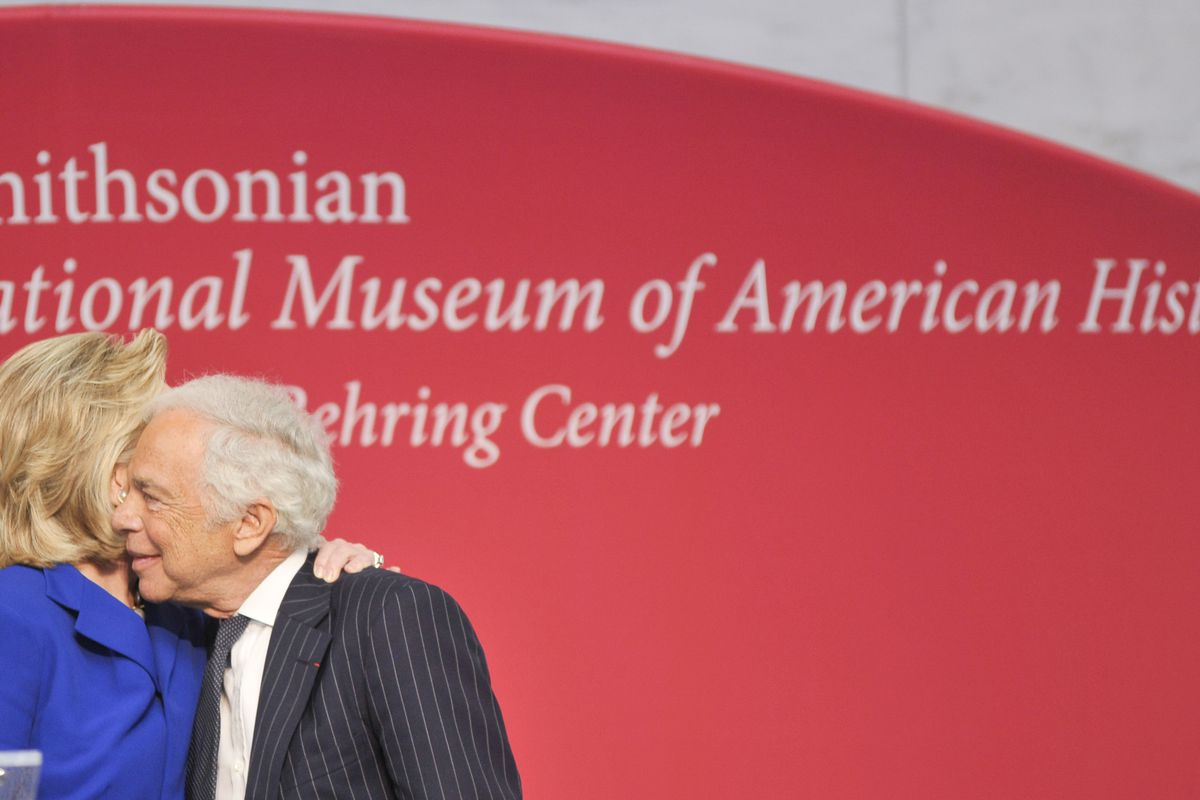 Hillary Rodham Clinton and Ralph Lauren, having a moment. Images via Getty.