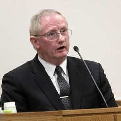 Jim Van Zant, a nurse pracitioner who worked with Martin MacNeill at the Utah State Developmental Center, testifies in MacNeill's murder trial in 4th District Court in Provo Thursday Nov. 7, 2013.