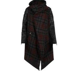 "<strong>AllSaints</strong> Check Gaboury Parka, <a href=""http://www.us.allsaints.com/women/coats/allsaints-check-gaboury-parka/?colour=89&category=117#"" target=""new"">$650</a>"
