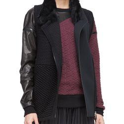 "Shearling-collar knit vest, $200 (was $1,095) via <a href=""http://www.neimanmarcus.com/Ohne-Titel-Shearling-Collar-Knit-Vest/prod172480116/p.prod"">Neiman Marcus</a>"