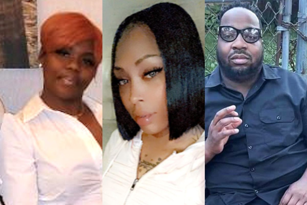 From left, victims Shermetria Williams, Denice Mathis and Blake Lee. They were among eight people shot, four fatally, Tuesday morning in Englewood.