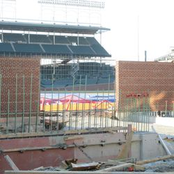 Closer view of the inner wall at the Gate Q area -