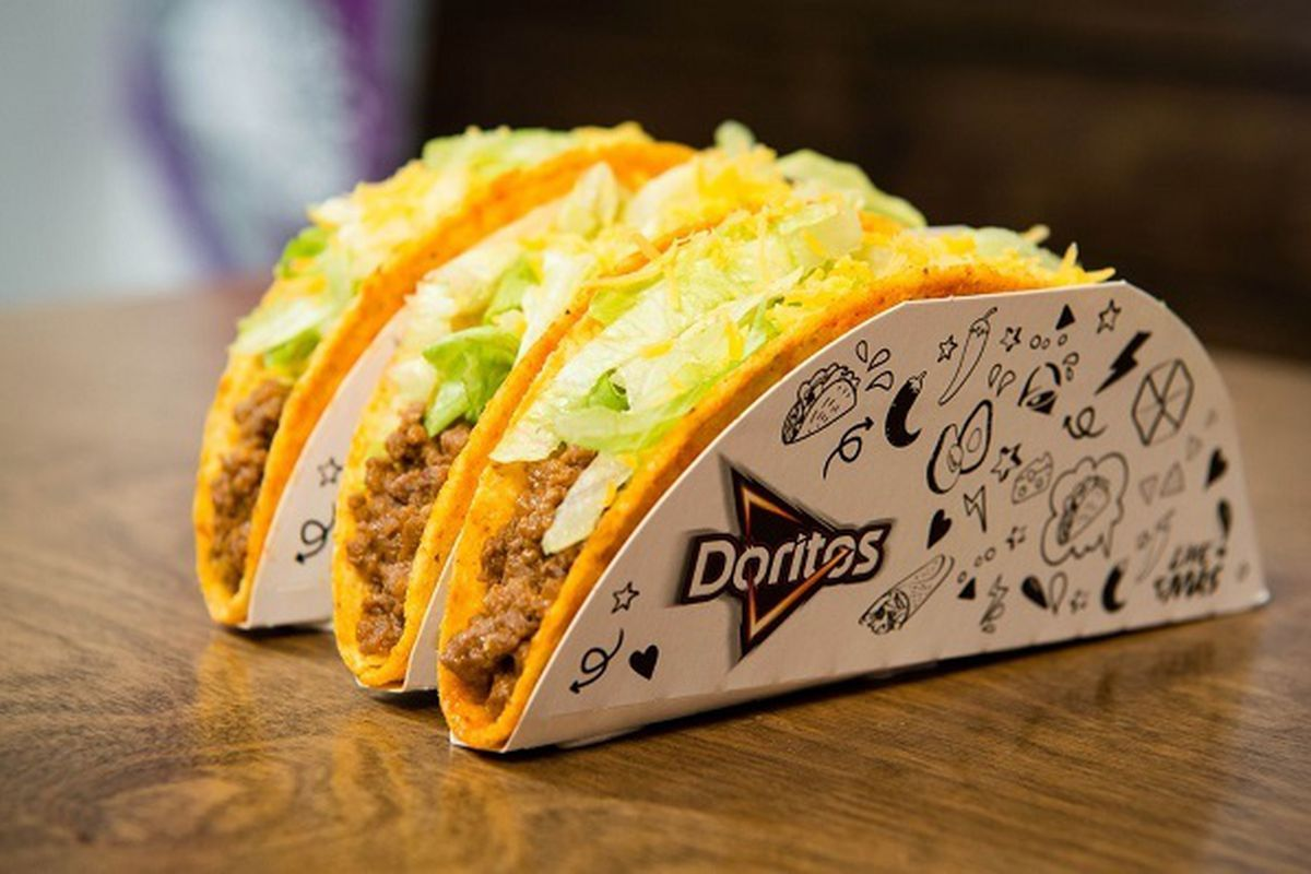 Doritos Locos Tacos at Taco Bell in London for a limited time only