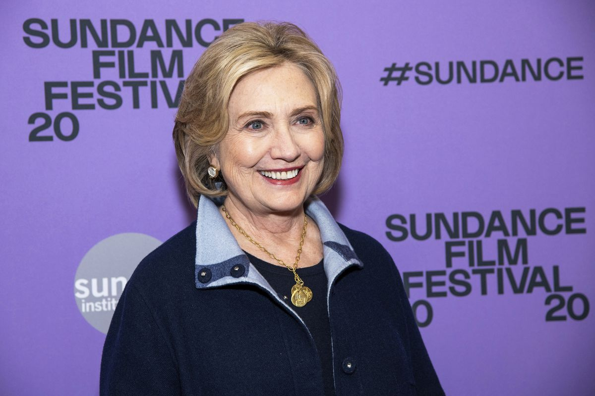"""Hillary Clinton attends the premiere of """"Hillary"""" at The Ray Theatre during the 2020 Sundance Film Festival in January."""
