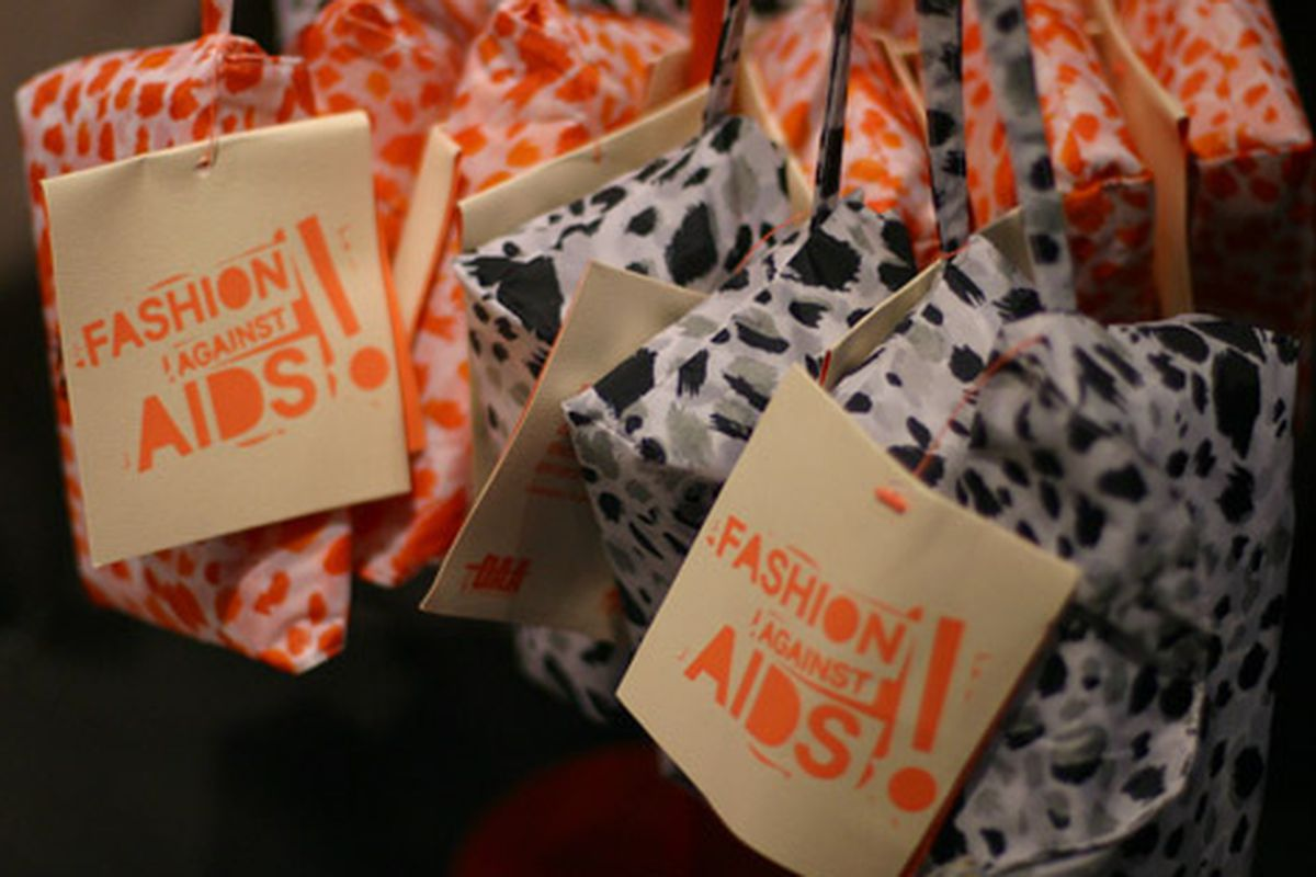 """H&amp;M's Fashion Against AIDS tags via <a href=""""http://www.flickr.com/photos/49367469@N04/4627349666/in/pool-312691@N20"""">The Greyest Ghost</a>/Racked Flickr Pool"""
