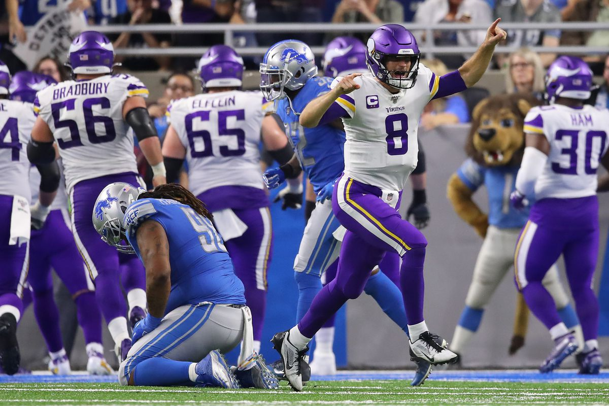 Kirk Cousins Dalvin Cook Carry Vikings Past Lions Game