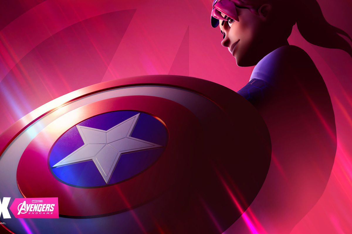 Captain America's shield in Fortnite Avengers event preview