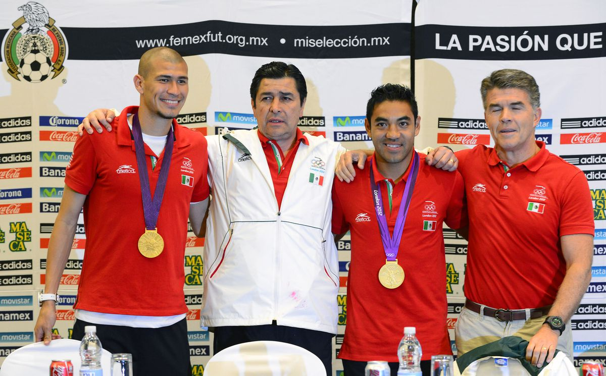 From (L to R) Mexico's football player J