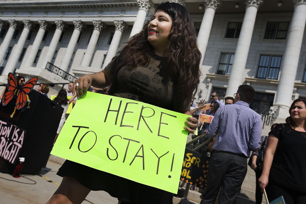 Mayra Cedano attends a gathering of DACA supporters at the Capitol in Salt Lake City on Sept. 5, 2017. President Donald Trump is dismantling DACA, Deferred Action for Childhood Arrivals, the government program protecting hundreds of thousands of young immigrants who were brought into the country illegally as children. Cedano came to America through the DACA program when she was 11-years-old.