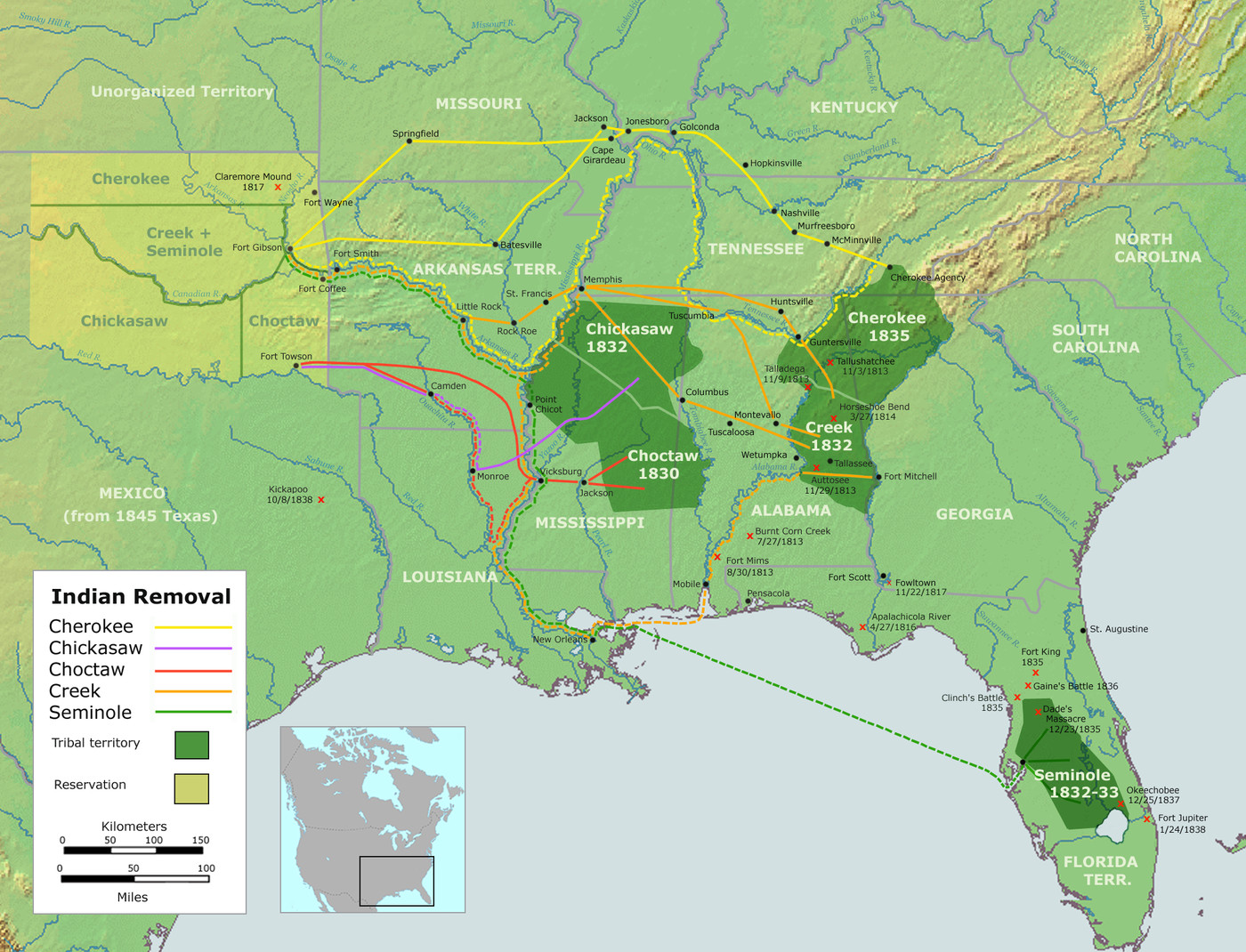 16 maps that Americans don't like to talk about - Vox Cherokee Map on
