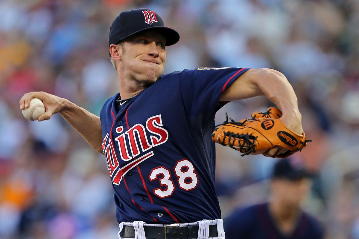 July 30, 2012; Minneapolis, MN, USA: Minnesota Twins starting pitcher Cole De Vries (38) delivers a pitch in the first inning against the Chicago White Sox at Target Field. Mandatory Credit: Jesse Johnson-US PRESSWIRE