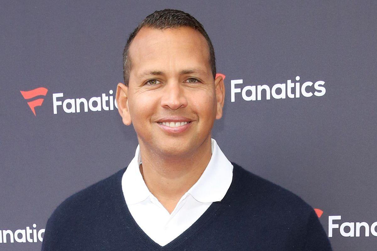 A-Rod at the Super Bowl, taking a break from his intense training.