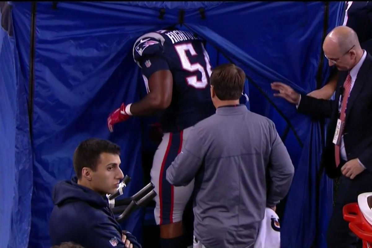 c0c7c320fa6 Why are NFL teams using those pop-up medical tents on their sidelines?