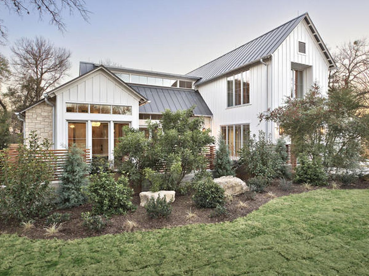 Large white modern farmhouse