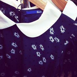 An adorable Peter Pan collar dress from Keds apparel.