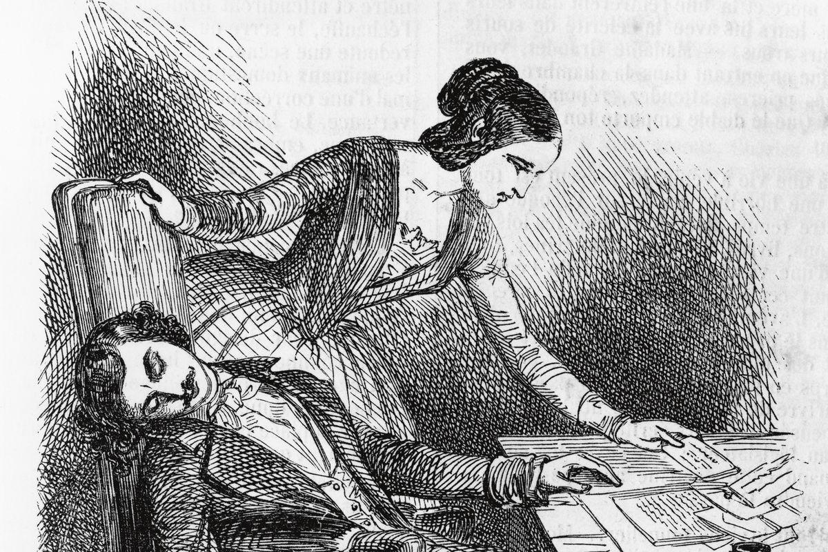 Illustration for Eugenie Grandet, novel