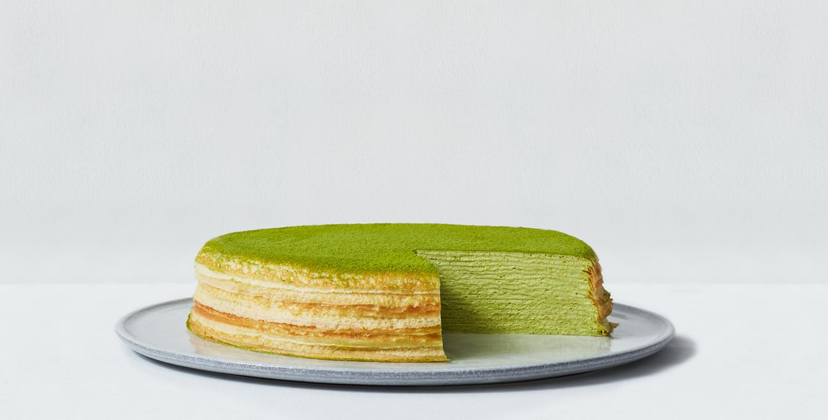The green tea mille crepe cake at Lady M