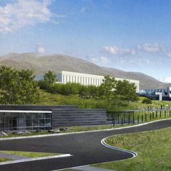 Computer rendering of the first Intelligence Community Comprehensive National Cybersecurity Initiative (CNCI) Data Center at Camp Williams. Ground was broken on the facility Thursday, Jan. 6, 2011.