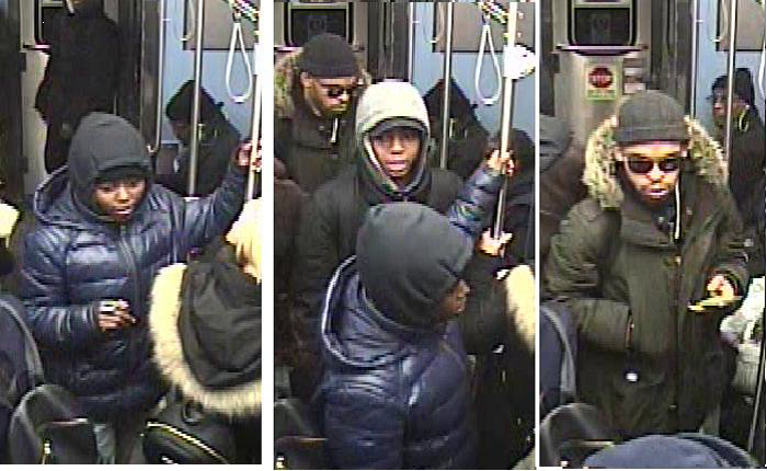Police say these people are suspected of hitting CTA customers through the operator windows on L trains. | Chicago police