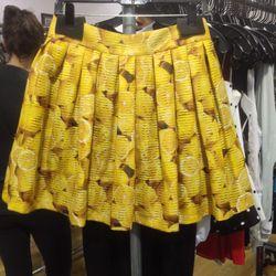 Lemon-print pleated skirt, $119 (was $297)