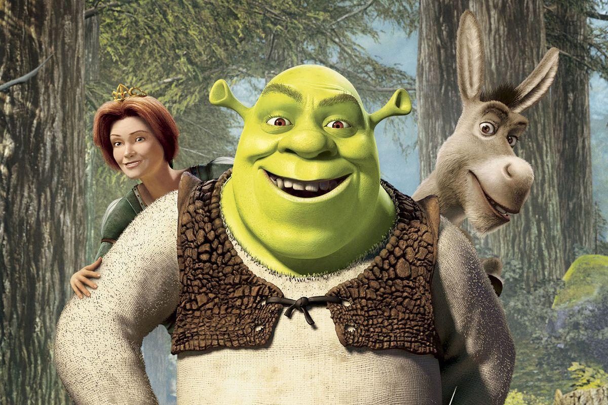 Shrek - Princess Fiona, Shrek, Donkey