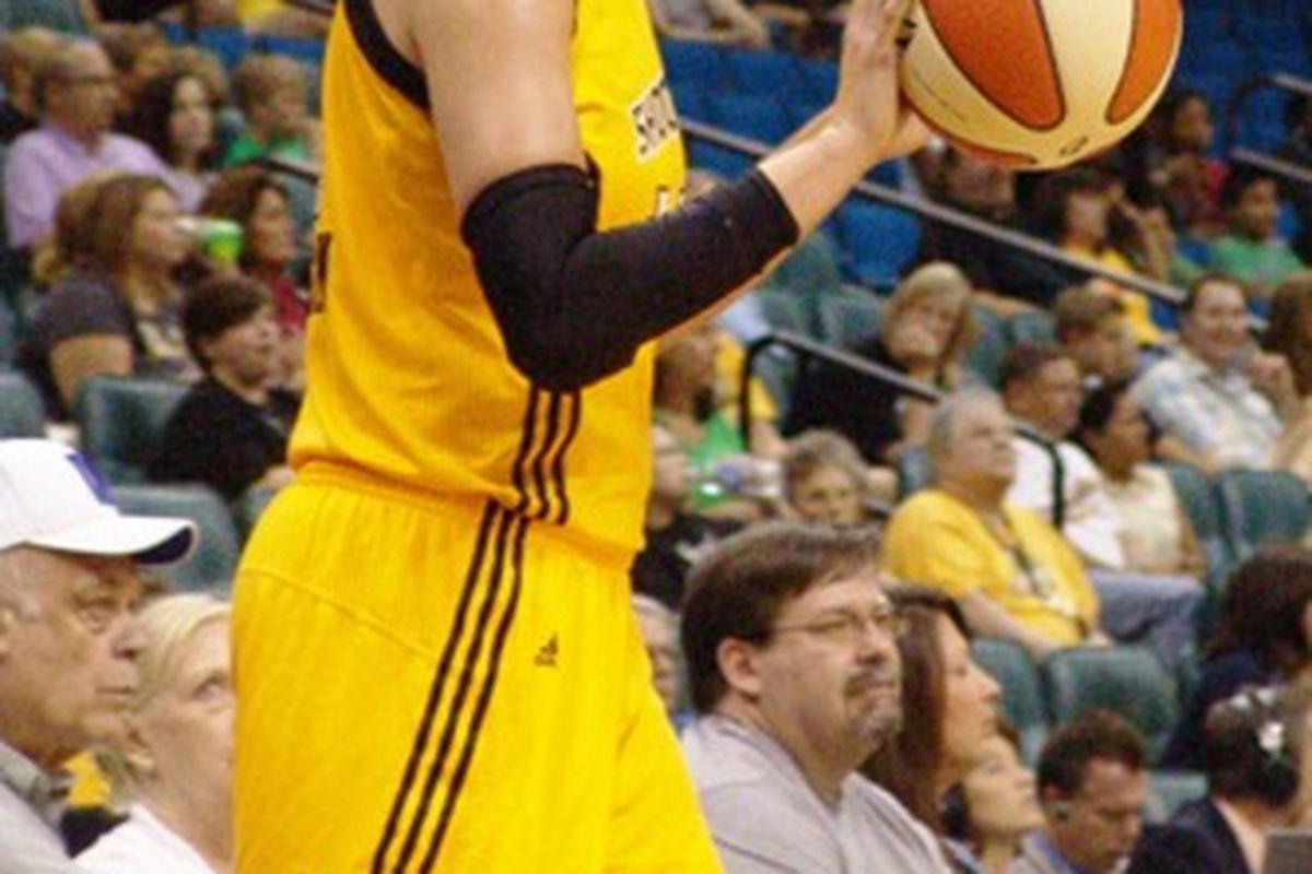 Tulsa Shock forward Kayla Pedersen has done a little bit of everything to help her rise to the top of the 2011 rookie class. <em>(Photo courtesy of Troy Littledeer.)</em>