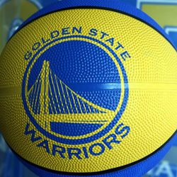 The new Golden State Warrior logo is seen on a basketball for sale at the Warrior team store Wednesday, July 14, 2010, in Oakland, Calif.  Golden State Warriors owner Chris Cohan reached an agreement Thursday to sell the franchise for a record $450 million to Boston Celtics minority partner Joe Lacob and Mandalay Entertainment CEO Peter Guber. (AP Photo/Ben Margot)