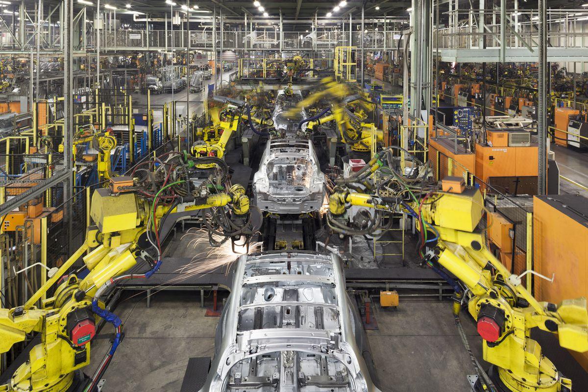 A Nissan car plant in the United Kingdom