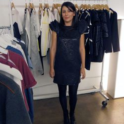 Le Frenchlab's Emmanuelle Rienda with Raphaelle H'Limi's collection.