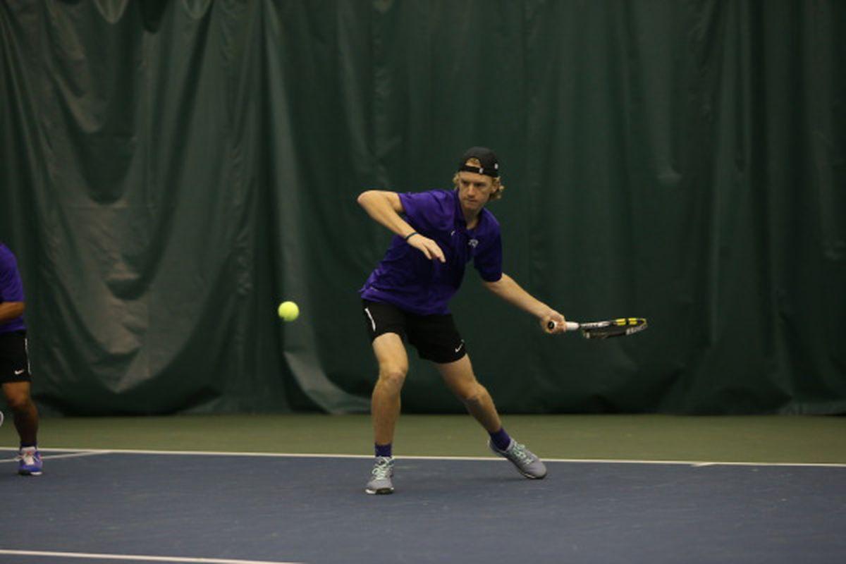 Freshman Alex Rybakov played a big role in bringing TCU to the ITA Indoor semifinals.
