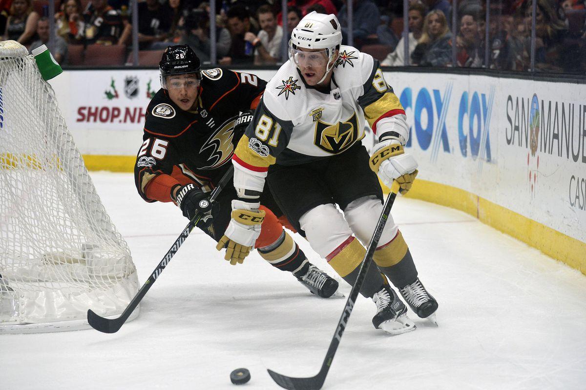 NHL: Vegas Golden Knights at Anaheim Ducks
