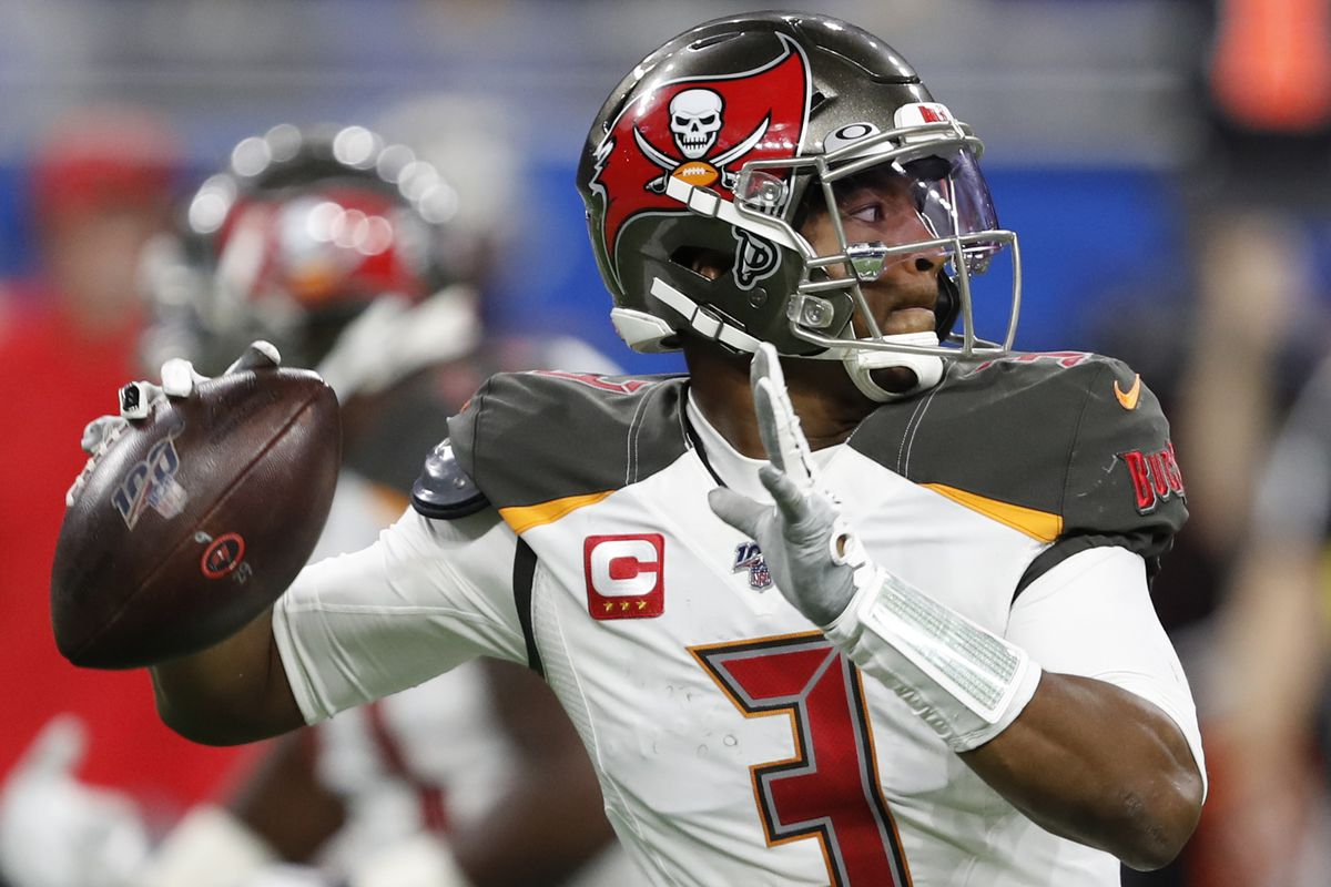Tampa Bay Buccaneers quarterback Jameis Winston passes the ball during the fourth quarter against the Detroit Lions at Ford Field.