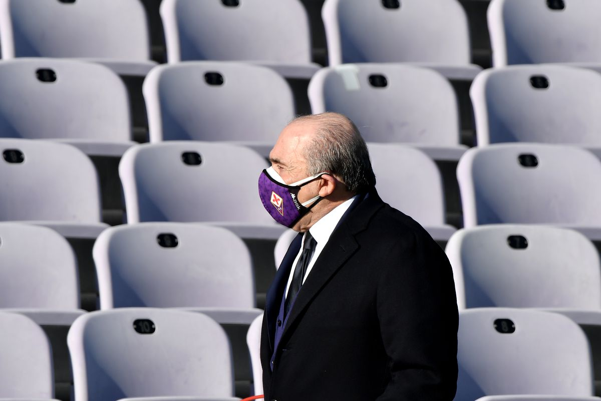 ACF Fiorentina president Rocco Commisso walks in front of...