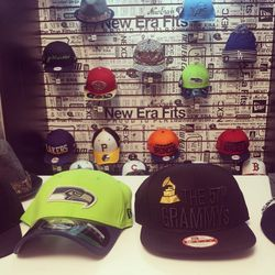 New Era's snapbacks catered to sports fans and audiophiles alike.