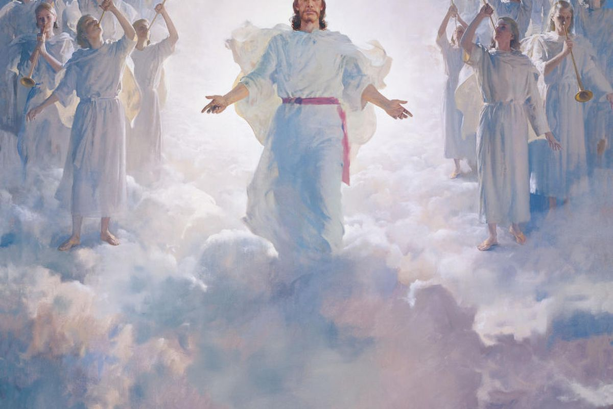 Jesus Christ at the Second Coming in this painting by Harry Anderson.