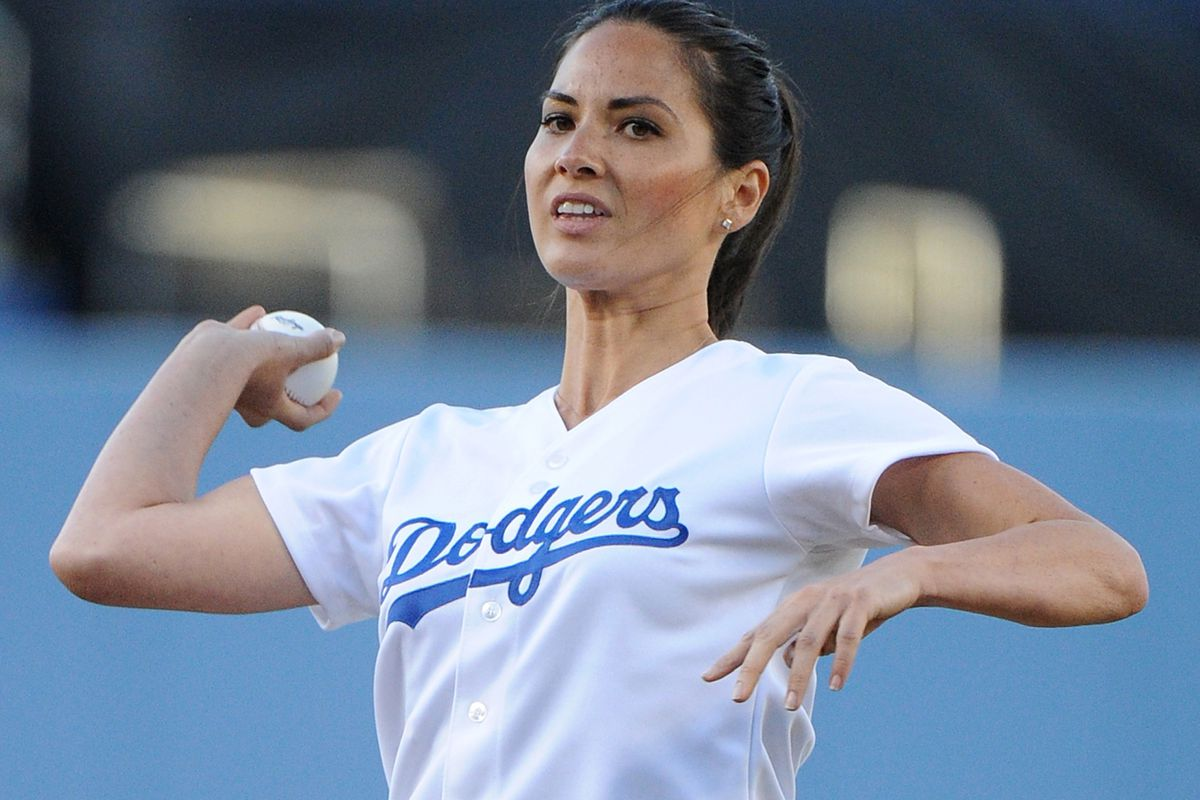 The Dodgers' new closer, Olivia Munn. Probably a bit more effective than the current one...