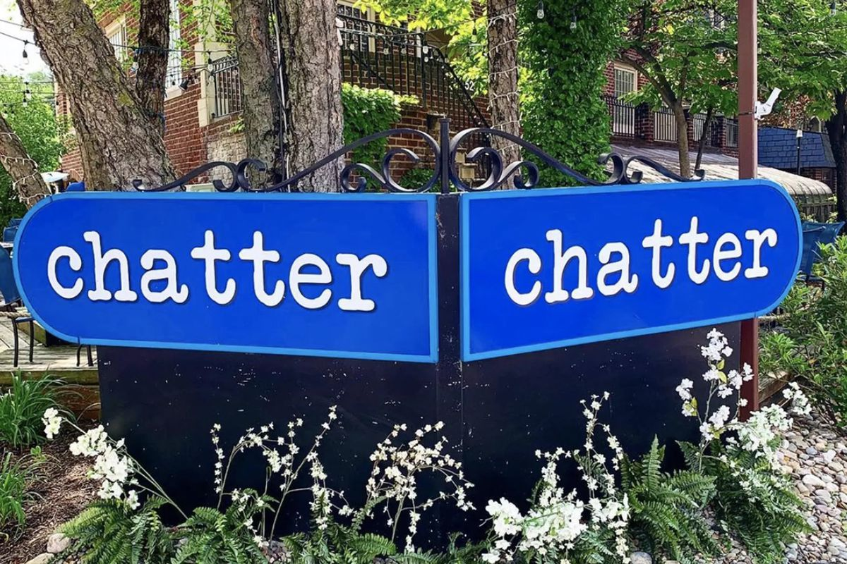 The sign at now-defunct chatter