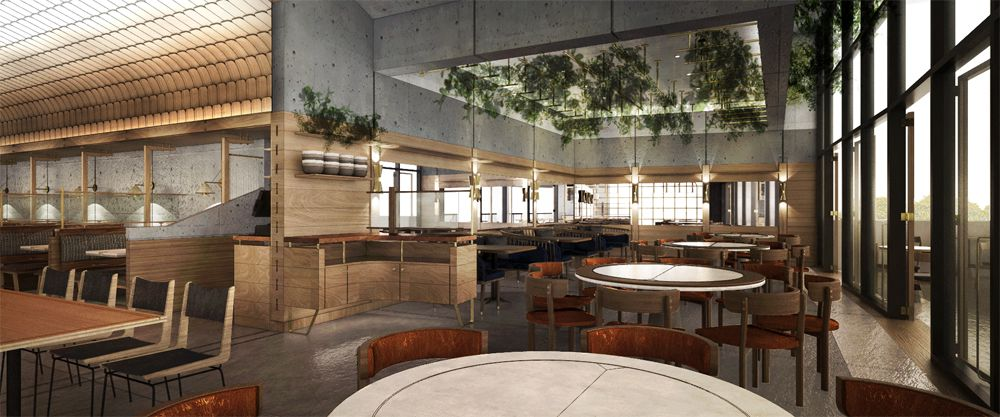 La La Noodle dining room rendering at Park MGM