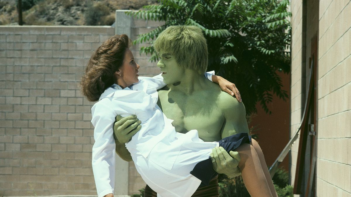 The Incredible Hulk TV series - Hulk carrying Dr. Jane Cabot in the episode 'Bring Me the Head of the Hulk'