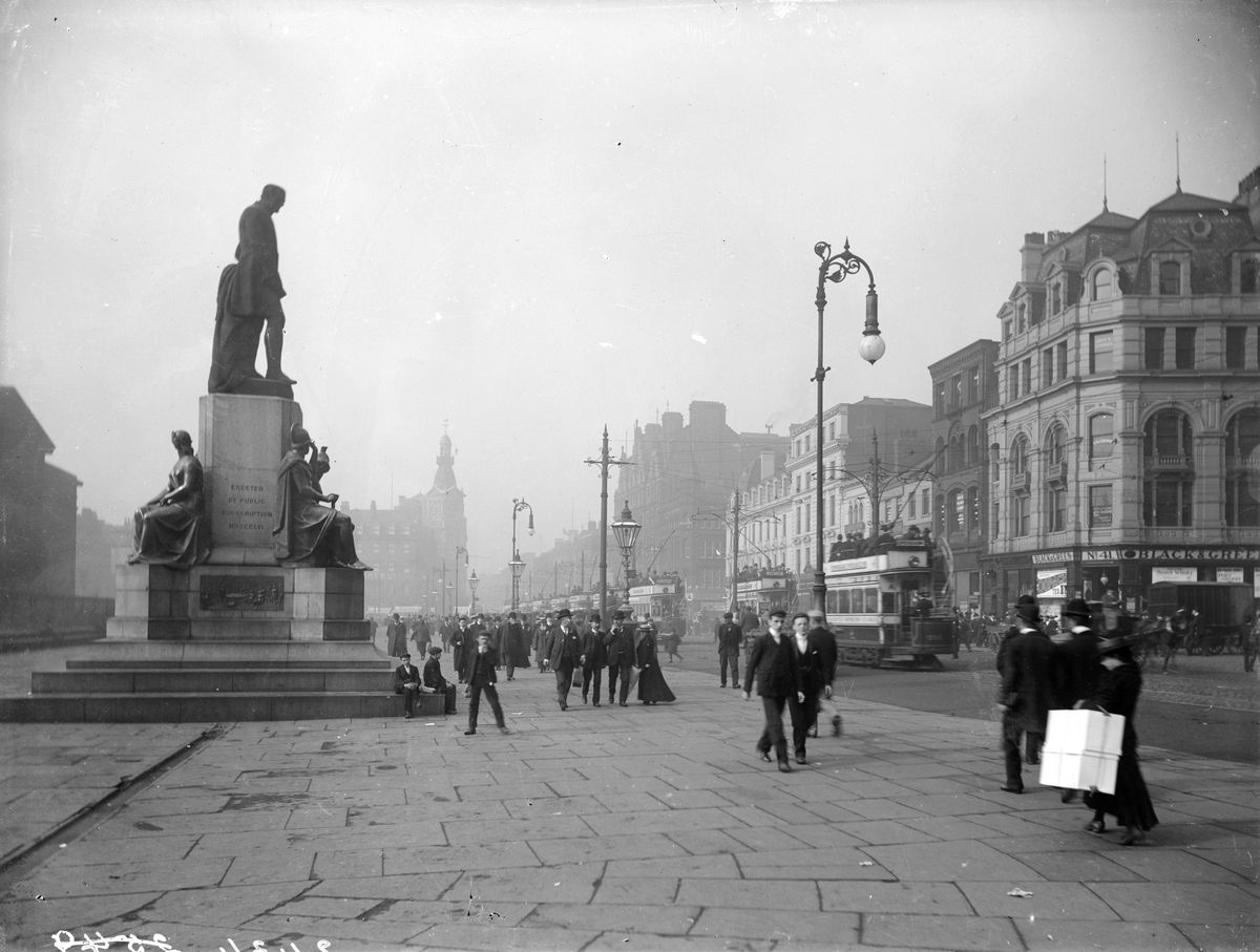 Piccadilly, Manchester, c1890-c1910.