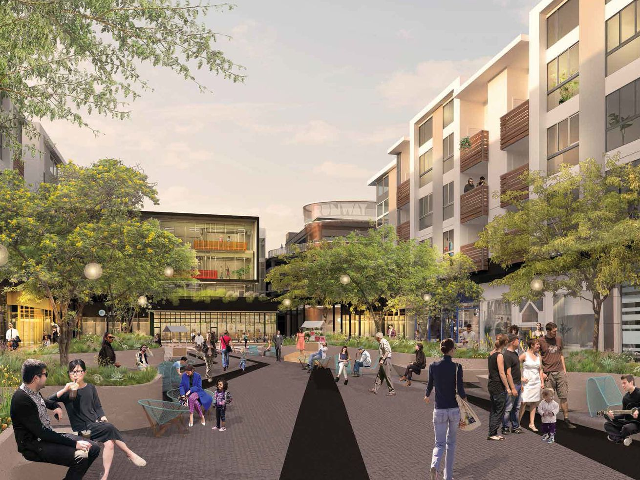 A planned makeover of Runway at Playa Vista's main street would turn the space into a car-free one.
