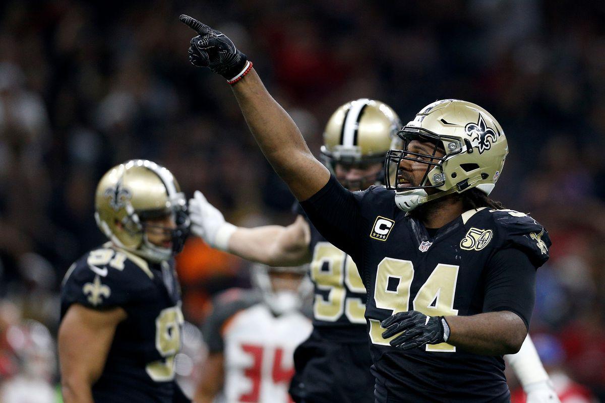 c2ec0ec53 Photo by Jonathan Bachman Getty Images. New Orleans Saints Defensive End  Cameron Jordan ...