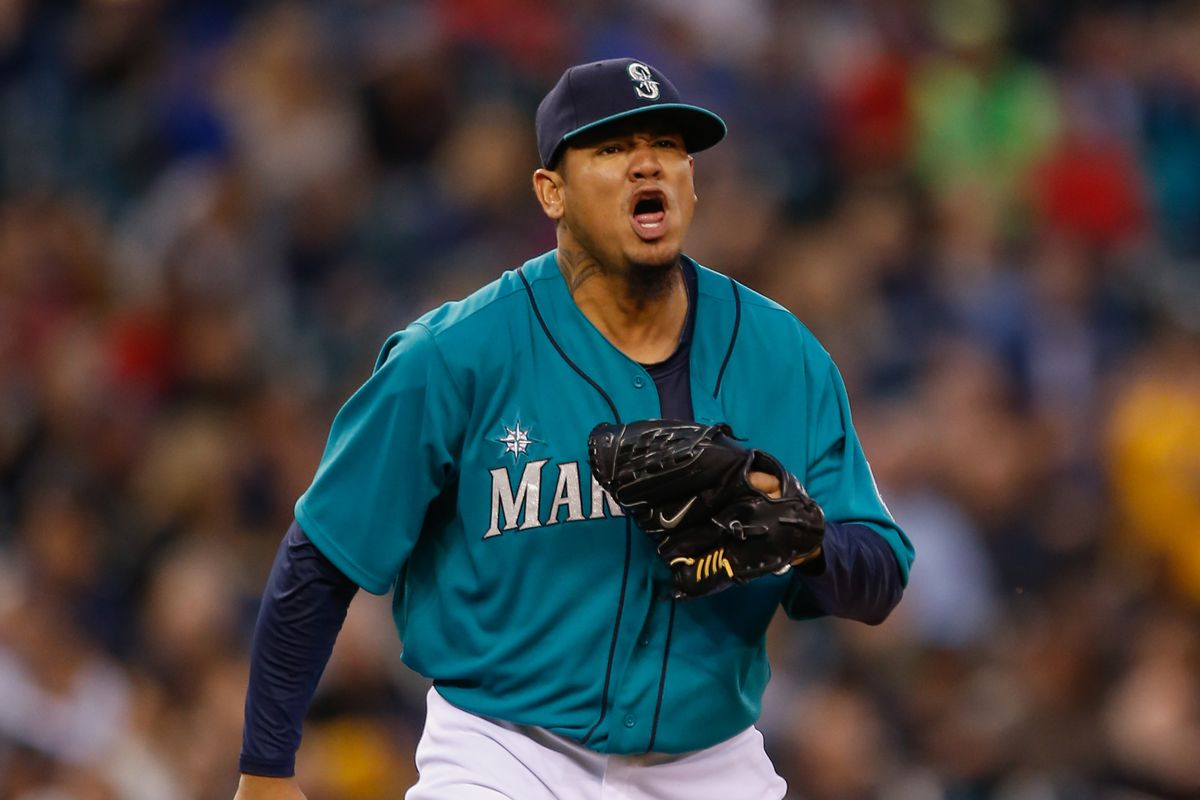 What Felix Hernandez looks like when he sees the Rangers on the schedule