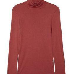 "<a href=""http://www.net-a-porter.com/product/324500"">Cotton-blend jersey turtleneck top by <b>Splendid</b>, $26 (was $52)"