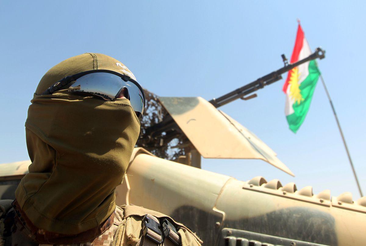 Peshmerga near the Mosul Dam. Ahmad al-Rubaye/AFP/Getty Images