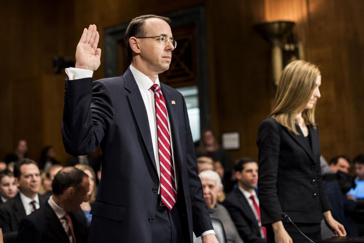 Image result for photos of rod rosenstein and president trump